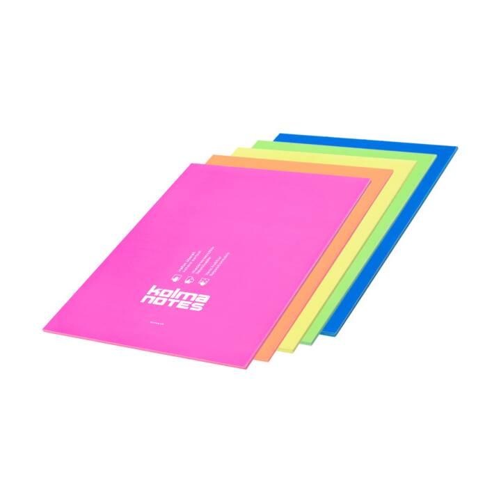 KOLMA Notes autocollantes (210 mm x 297 mm, Multicolore)