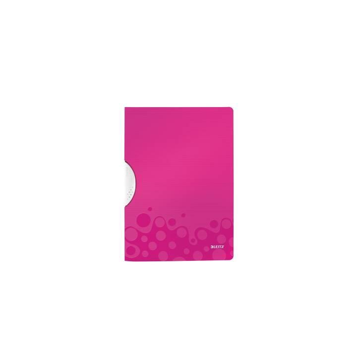 Reliure à clip LEITZ WOW Color Clip A4 rose