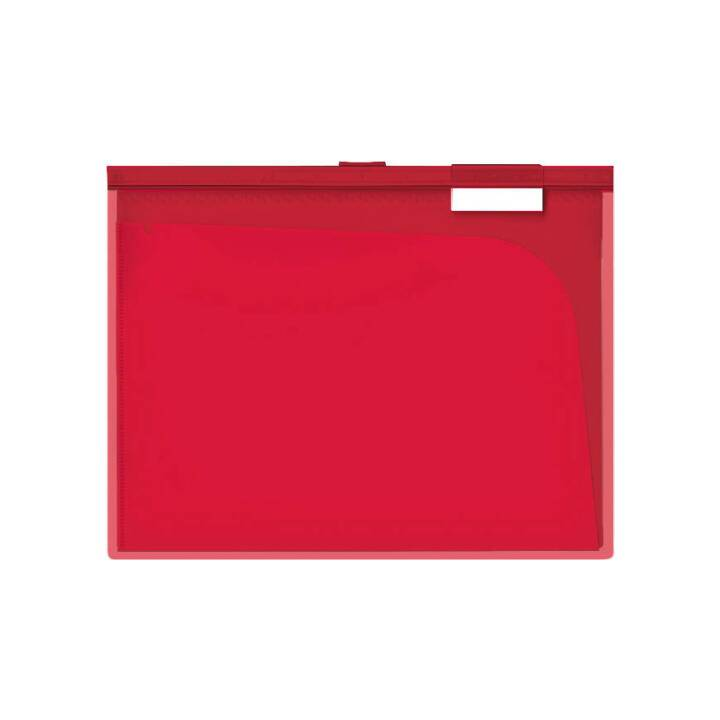 BÜROLINE Slidebar Index Pocket A4 rosso 3 pezzi