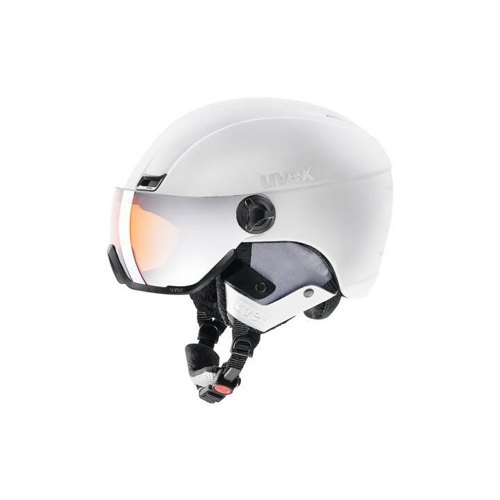UVEX Casco da sci (L, Bianco)