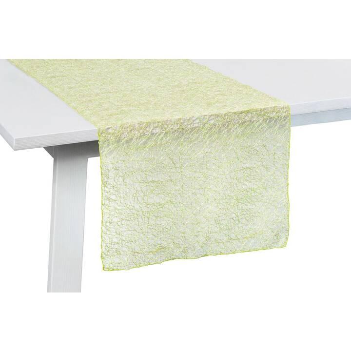 PICHLER Chemin de table Veneto (45 cm x 140 cm, Rectangulaire, Lime)