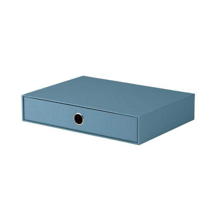 RÖSSLER PAPIER Büroschubladenbox (A4, Blau, Schwarz)