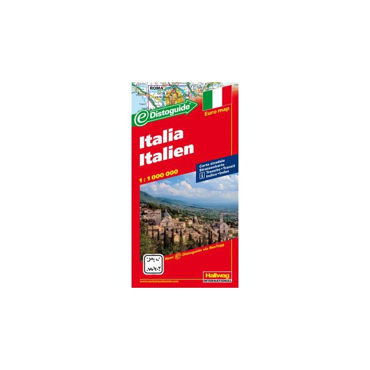 HALLWAG Strassenkarte Italien, 1:1 Mio.