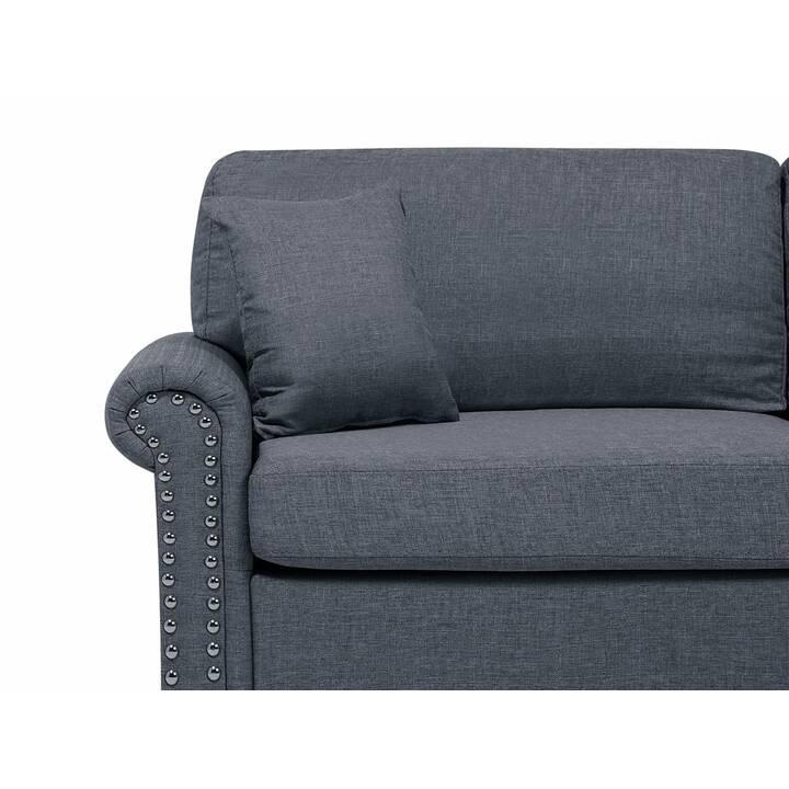 BELIANI Otra Sofa (Polyester, Grau, 195 cm x 84 cm)