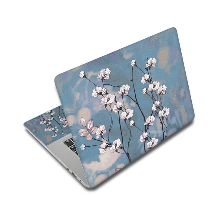 """EG Schutz Aufkleber für 17"""" Notebook - Blumen"""