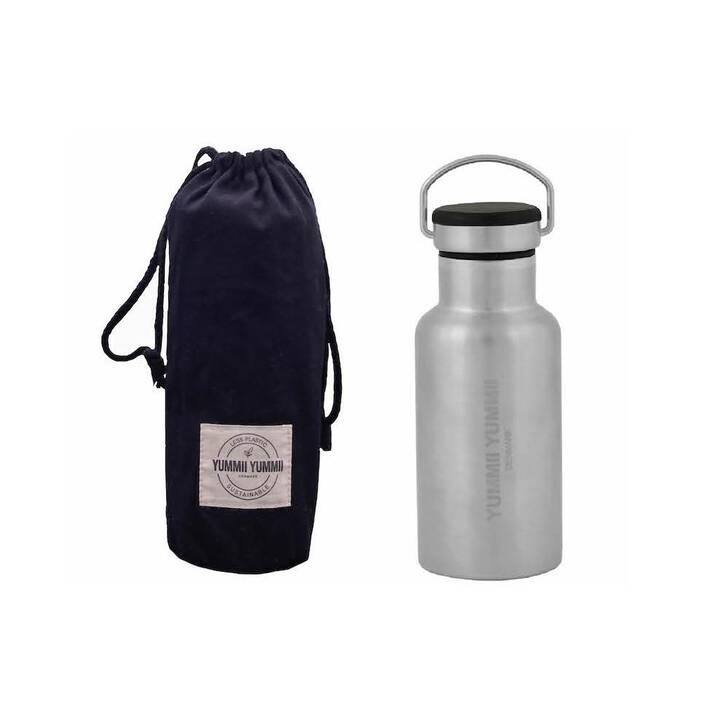 SORRISO Thermo Trinkflasche Yummii  (0.35 ml, Silber, Schwarz)