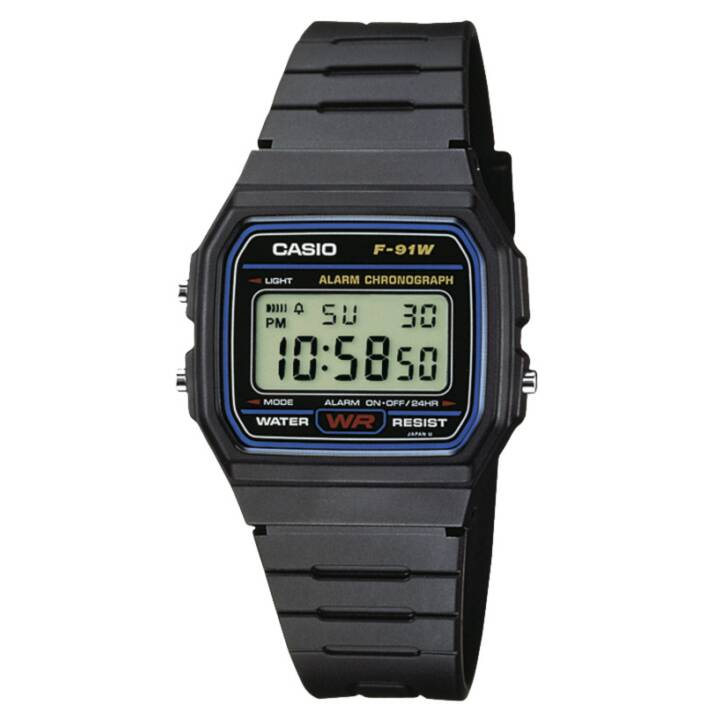 CASIO COLLECTION F91W-1YEF (33.2 mm, Digitaluhr, Quarz)