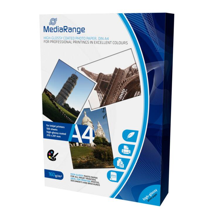 MEDIARANGE MediaPapier photo gamme A4 160 g/m² 100 pièces
