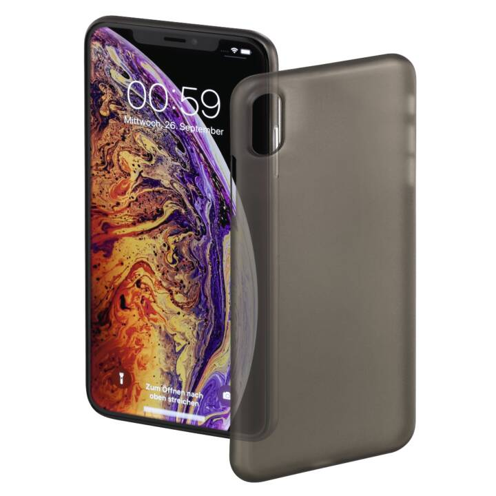 HAMA Backcover Ultra Slim (iPhone XS Max, Noir)