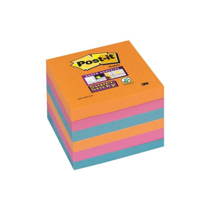 3M Notizzettel Post-it Super Sticky 7,6 x 7,6 cm, Farbig