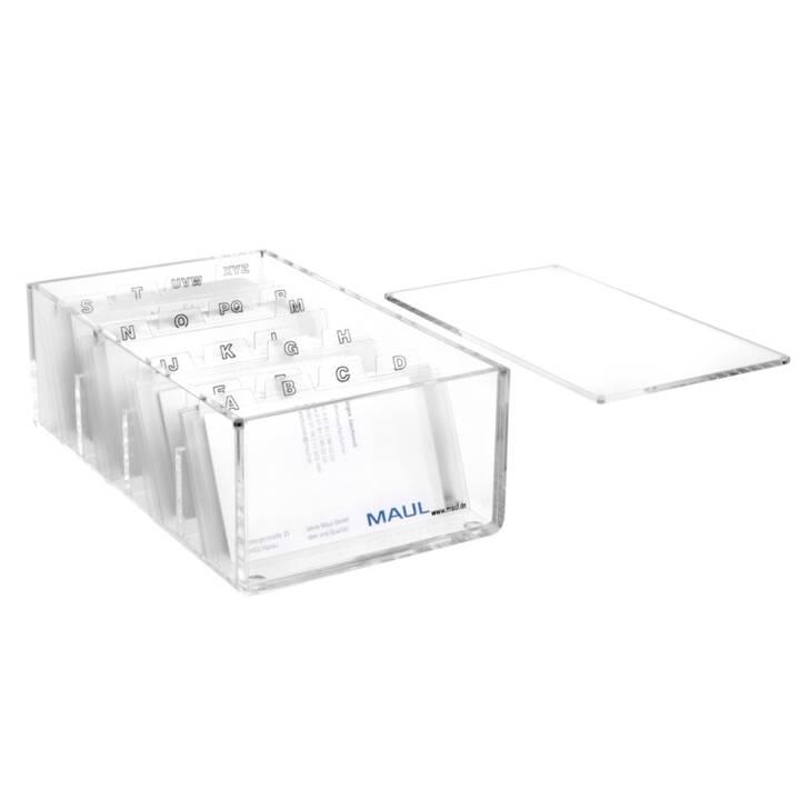 MAUL Porte-cartes de visite en acrylique transparent MAUL