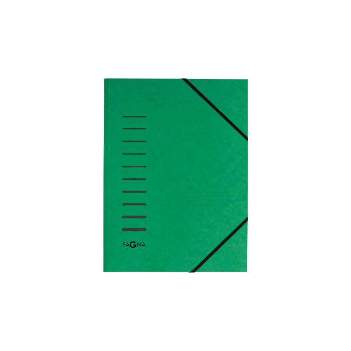 PAGNA Gummibandmappe A4 grün
