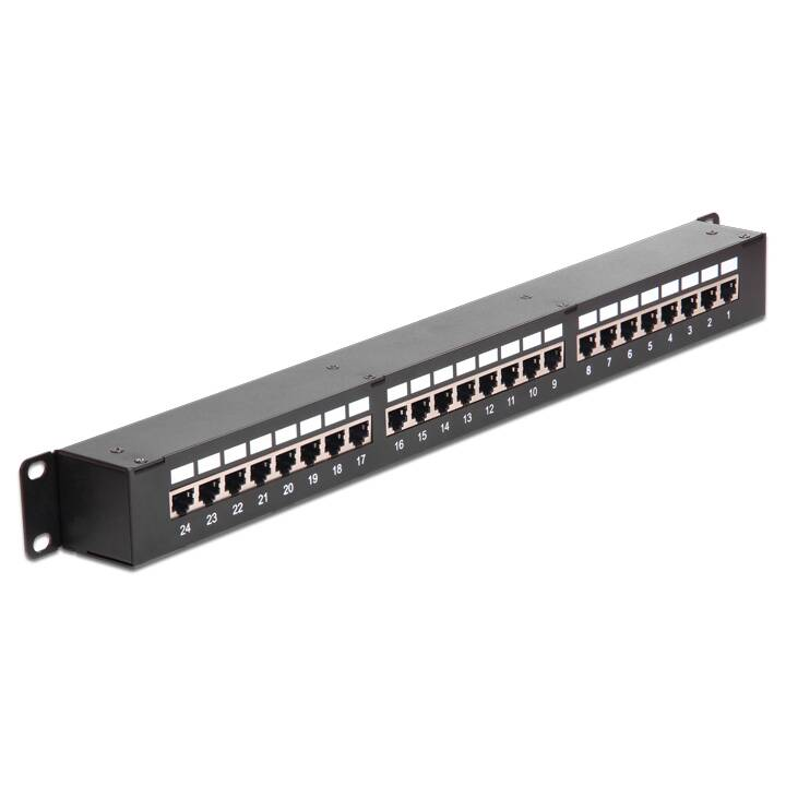 DeLock 19 Patchpanel 24 Port, 1HE, schwa