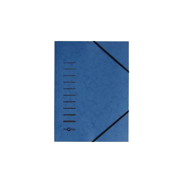 PAGNA Gummibandmappe A4 blau