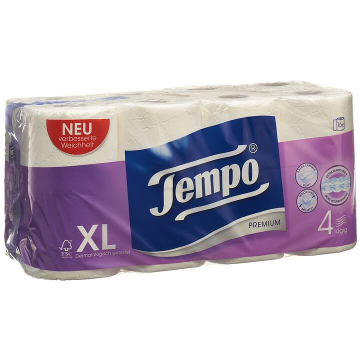 TEMPO Toilettenpapier Premium 4-lagig (16 Stück)