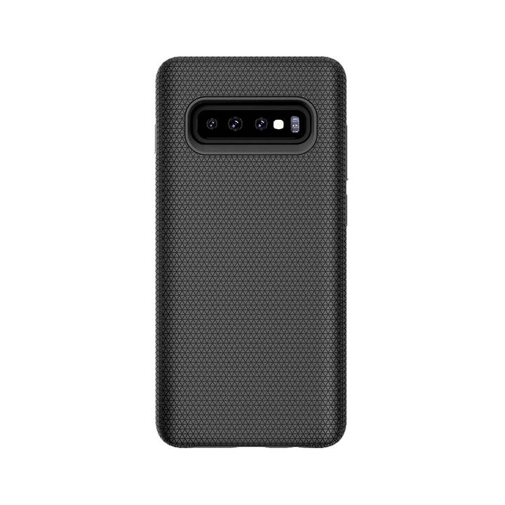 XVIDA Backcover Magnetic Charging Case (Galaxy S10, Schwarz)