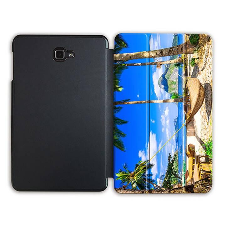 """EG MTT Tablet Tasche mit Smart faltbare Abdeckung für Samsung Galaxy Tab A 10.1"""" (2016)- Strand"""