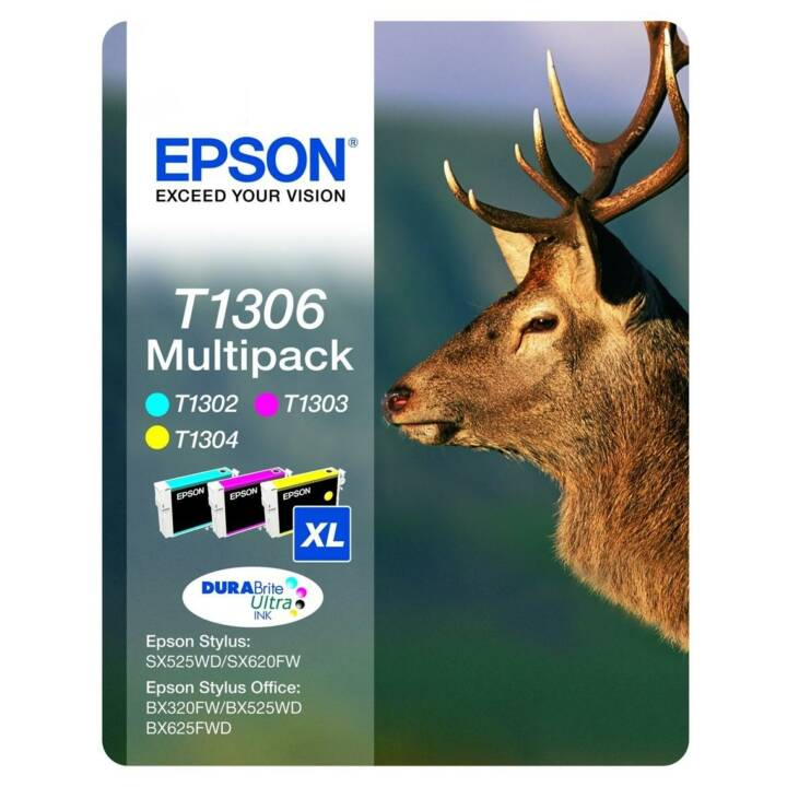 EPSON Multipack 3 Farben T1306 DURABrite Ultra Ink