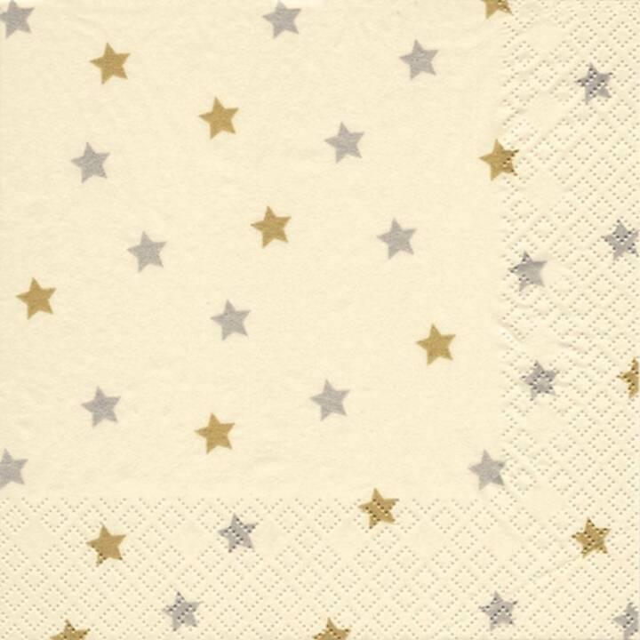 BRAUNS-HEITMANN Papierserviette Sternchen (33 cm x 33 cm, 20 Stück, Weihnachten)