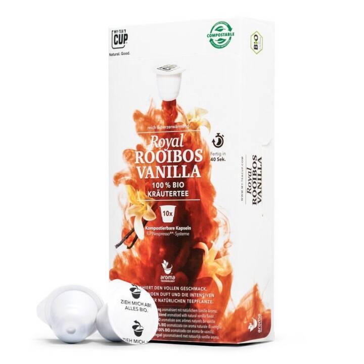 MY TEACUP Royal Vanilla Rooibos (Kapseltee, Nespresso, 10 Stück)