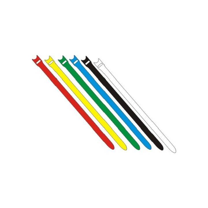 FASTECH Attache de câble à Velcro ETK-7-2 Rouge 200 mm x 7 mm