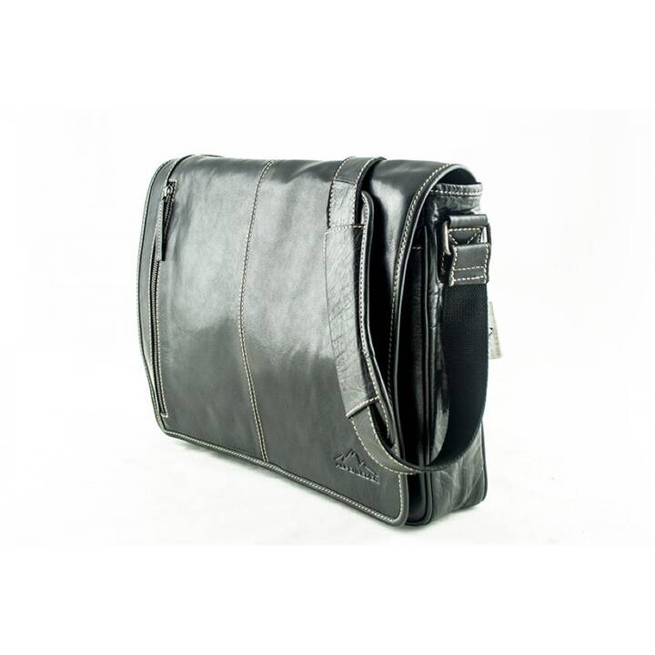 "ALPENLEDER Atlant Messenger Bag (15"", Schwarz)"