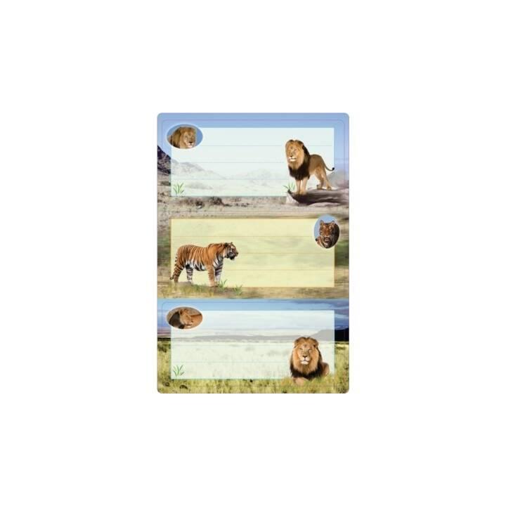 HERMA Schuletiketten Big Cats (6 Stück)