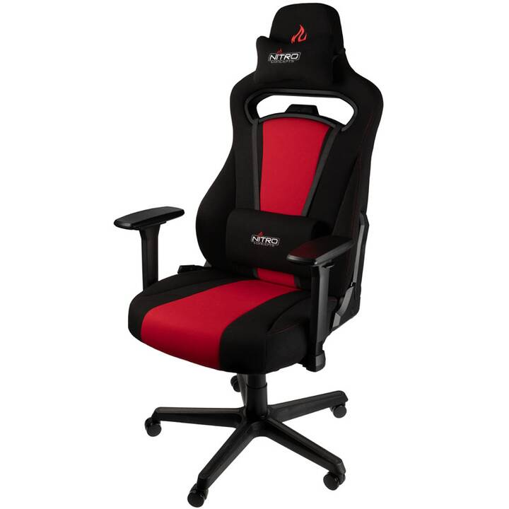 NITRO CONCEPTS NC-E250-BR Gaming Chaise (Rouge, Noir)
