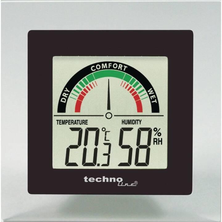 TECHNOLINE Thermometer-Hygrometer WS 9415 (Schwarz, Grau)