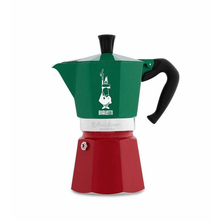BIALETTI Italia Moka (6 Tasses, Vert, Blanc, Rouge)