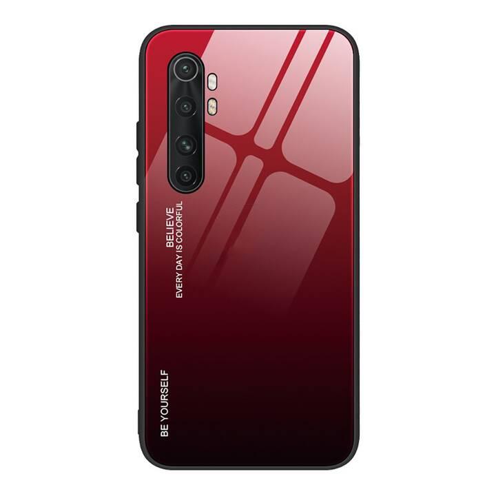 """EG Mornrise custodia per Xiaomi Mi Note 10 lite 6.47 """"(2020) - rosso nero"""