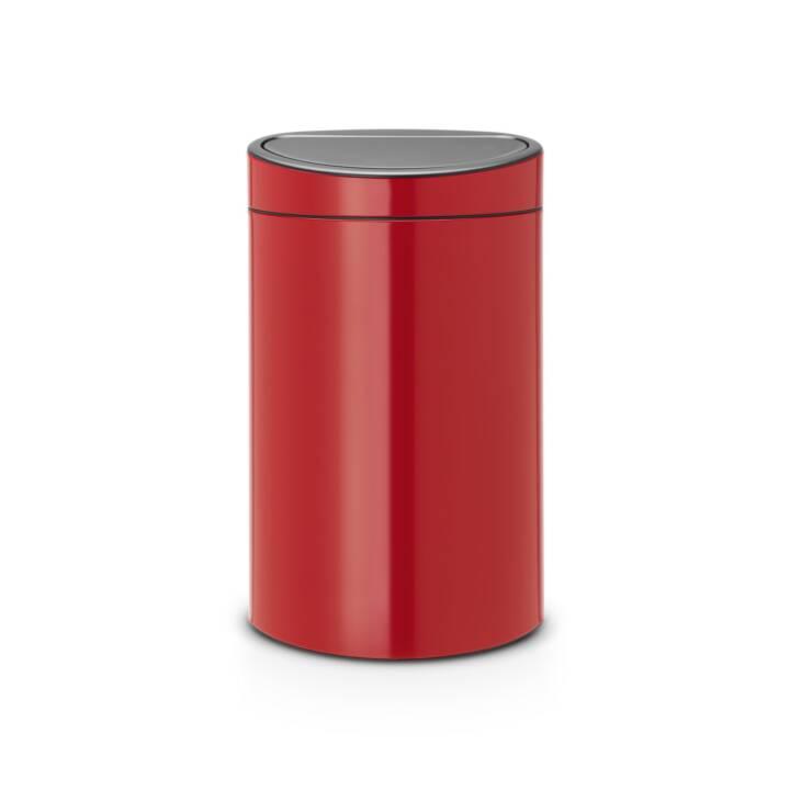 BRABANTIA Poubelle Touch Bin (40 l, Rouge)