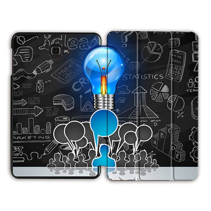 """EG MTT Sacoche à comprimés avec housse pliable Smart pour Samsung Galaxy Tab A 10.1"""" (2016) - Tablette pour ampoule électrique"""
