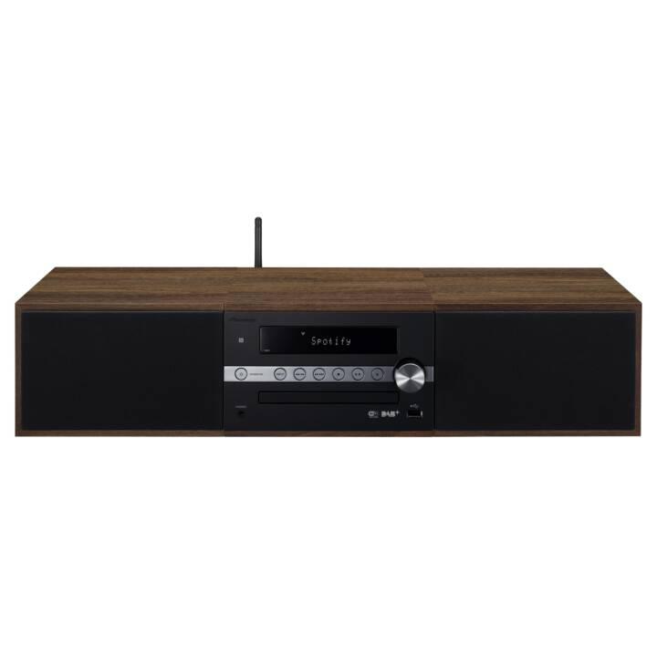 PIONEER X-CM66D (Marrone, Nero, Bluetooth 4.1, WLAN, NFC, Lettore esterno, Radio, CD)
