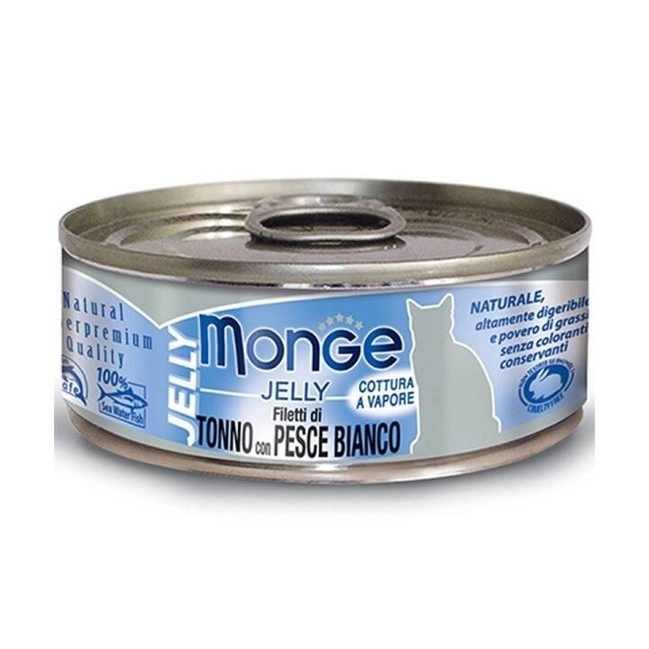 MONGE Jelly Cat (Adulto, 80 g, Tonno)