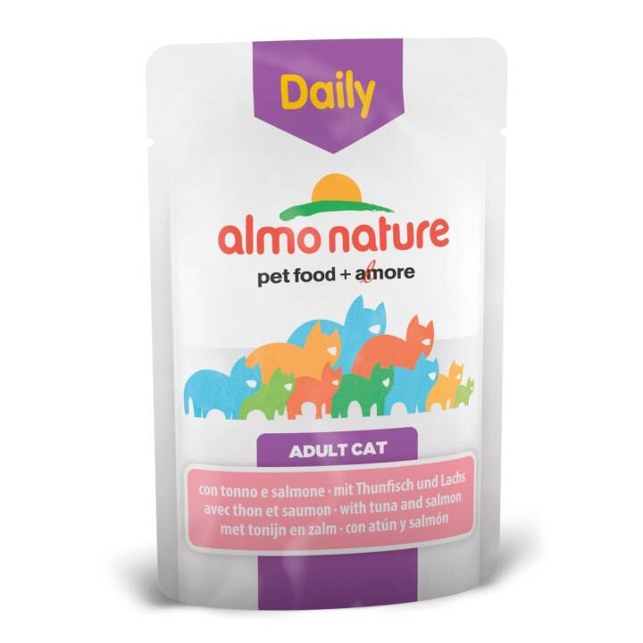 ALMO NATURE Daily (Adult, 70 g, Lachs, Thunfisch)