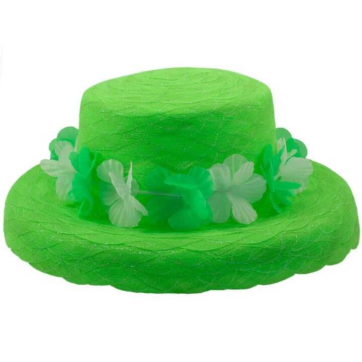 FOLAT Organza hat neon green Costumes pour adultes