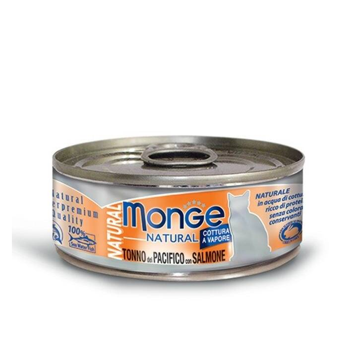 MONGE Natural Cat (Adult, 80 g, Fisch)