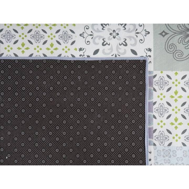 BELIANI Teppich INKAYA (140 cm x 200 cm, Beige, Weiss)