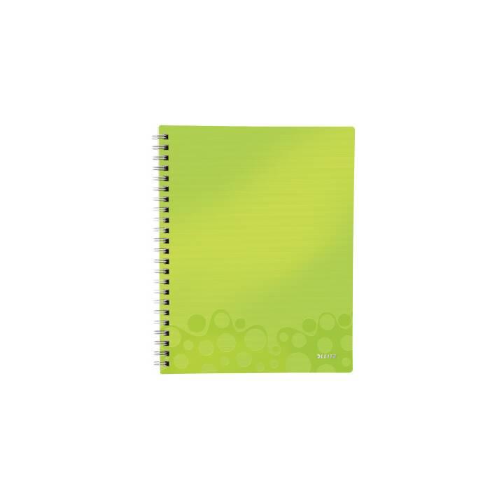 LEITZ 46420064 A4 80 feuilles vert, carnet métallique