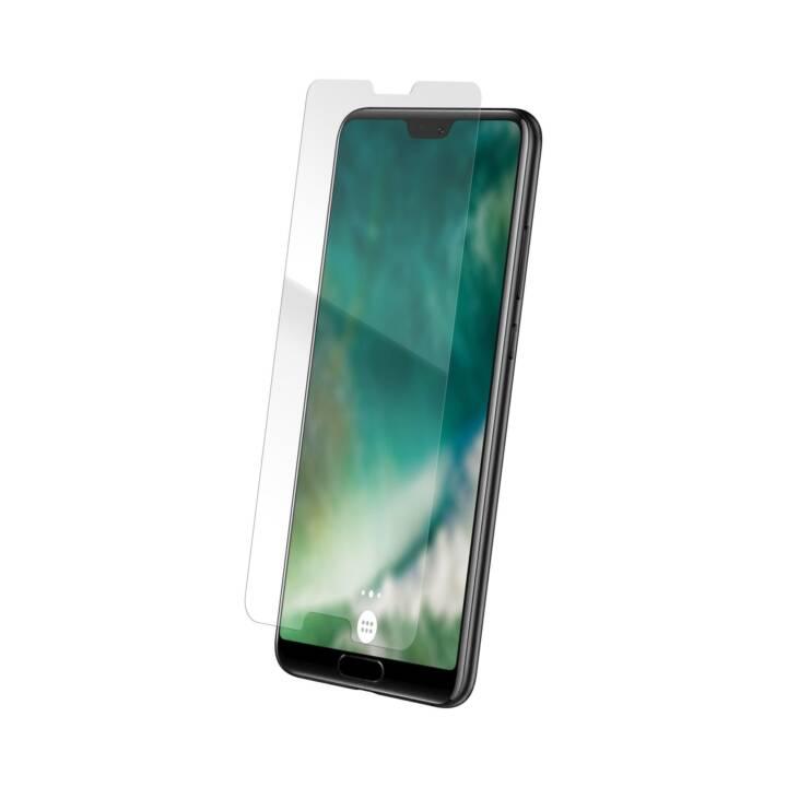 XQISIT Verre de protection d'écran Huawei P20 (Clair, Hautement transparent)