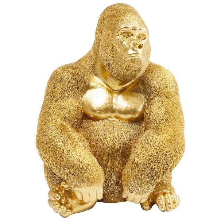 KARE Deko-Figur Monkey Gorilla (Gold)