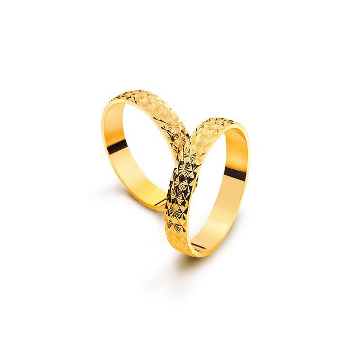 MUAU Matrimonio band (68, Oro giallo)
