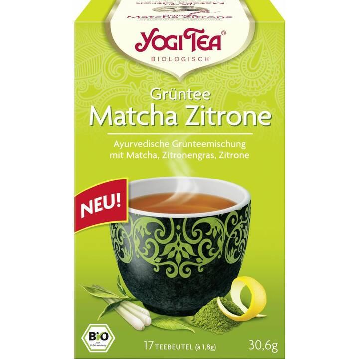 YOGI TEA Matcha Zitrone Grüntee (Teebeutel, 17 Stück)