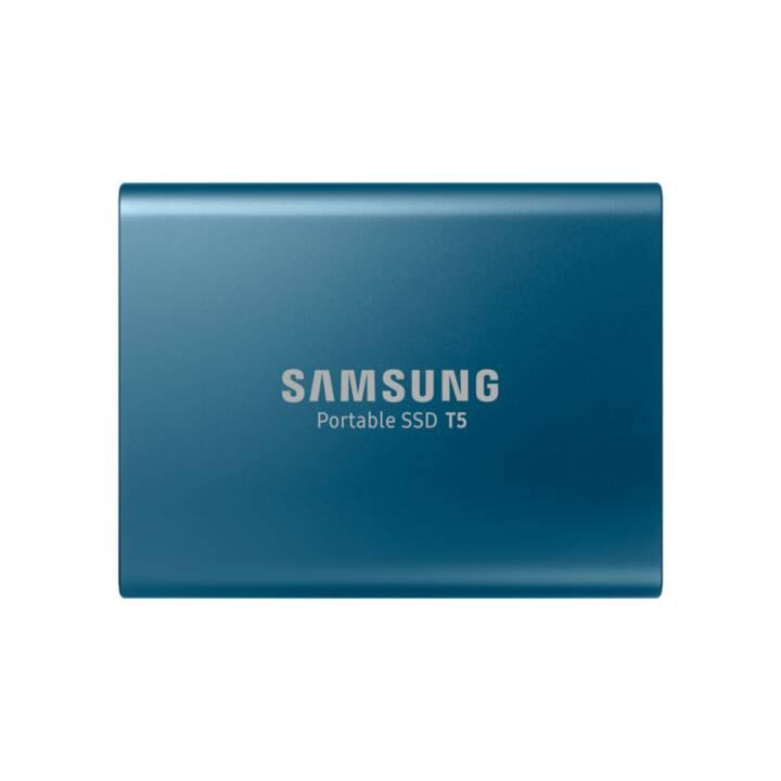SAMSUNG Portable T5 (USB 3.1, 500 GB, Bleu)