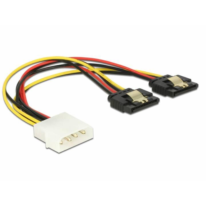 DELOCK 85237 Stromanschlusskabel (4 Pin, SATA, 20 cm)