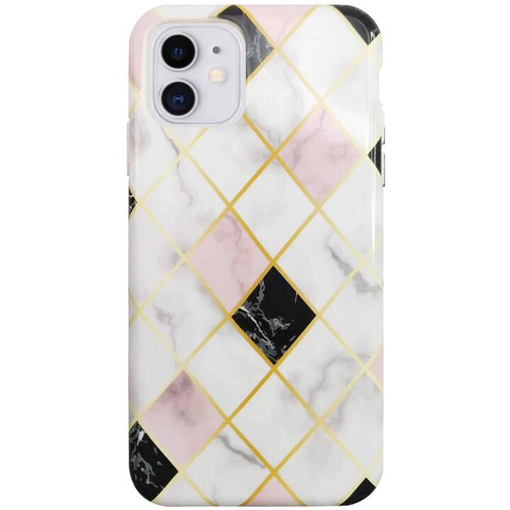 UUNIQUE Backcover Eco Friendly Printed White Marble (iPhone 11, Multicolore)