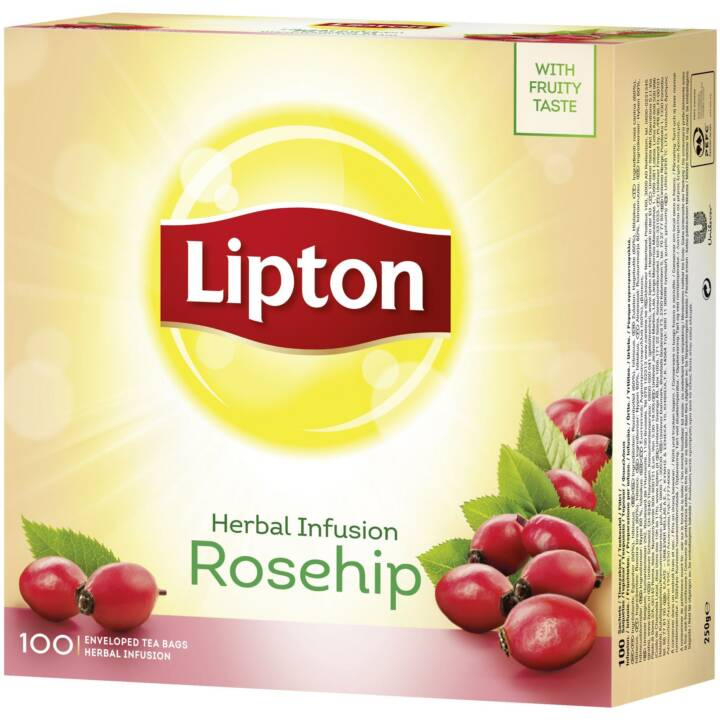 LIPTON Herbal Infusion Rosehip Tè di frutti (Bustina di tè, 100 pezzo)