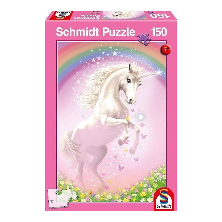 SCHMIDT Rosa Einhorn Puzzle (150 pièce)