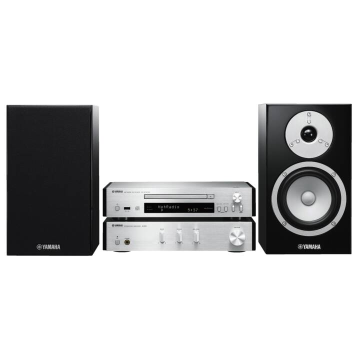 YAMAHA MCR-N670D (Argento, WiFi, Bluetooth, Lettore esterno, Radio, CD)
